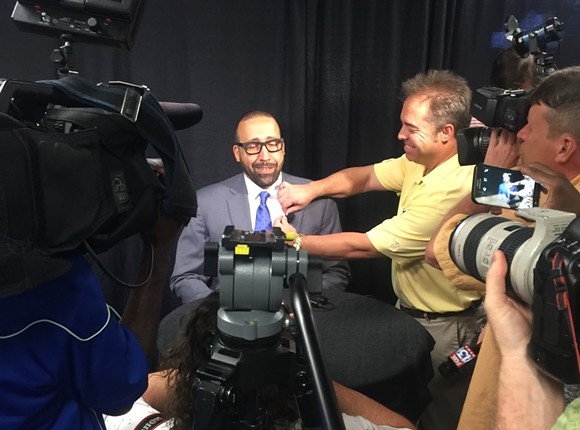 David Fizdale seemed at ease and excited heading into his first training camp. - KEVIN LIPE