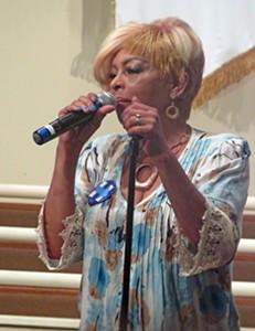 Councilwoman Fullilove addressing local Democrats on Sunday night - JB