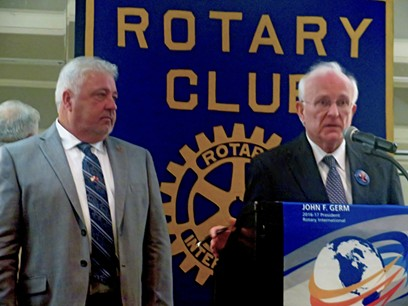 Debaters Roland and Cocke at East Memphis Rotary - JB