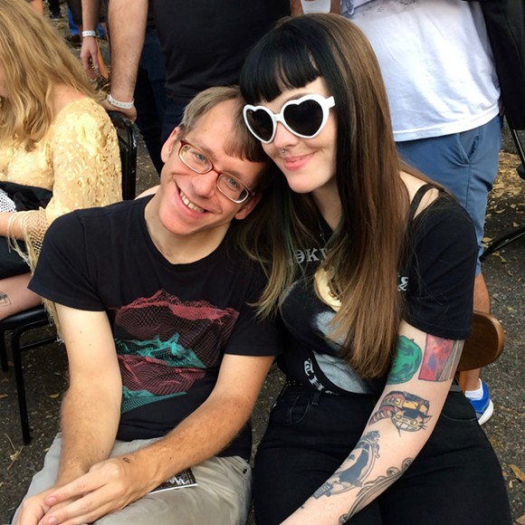 A pair of Goners feeling the love at Murphy's outdoor stage.