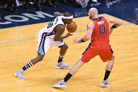 Zach Randolph (shown here against Washington) has regressed on defense this season. - LARRY KUZNIEWSKI
