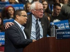 Rep. Ellison with Bernie Sanders at the Convention