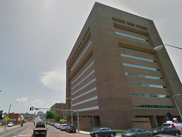 The Shelby County Criminal justice Center at 201 Poplar. - GOOGLE MAPS
