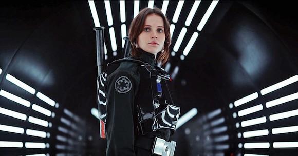 Felicity Jones as Jyn in Rogue One: A Star Wars Story