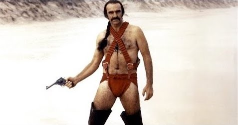 Sean Connery as Zed in Zardoz, because this is how genetically superior future men dress.