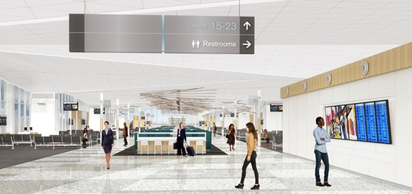 An improved B concourse. - MEMPHIS AND SHELBY COUNTY AIRPORT AUTHORITY
