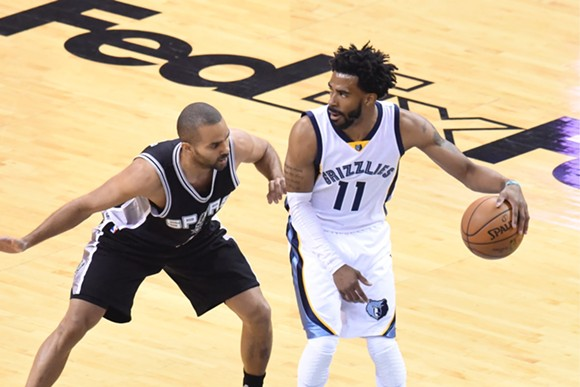 Mike Conley asserted his dominance last night. - LARRY KUZNIEWKI
