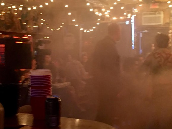 Fake smoke, real comedy.