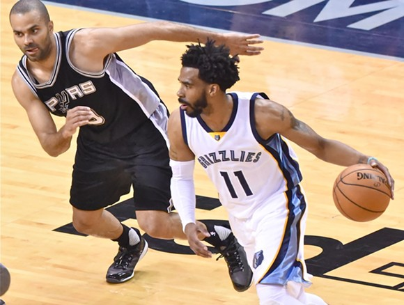 This is the series in which Mike Conley became the Grizzlies' undisputed star. - LARRY KUZNIEWSKI