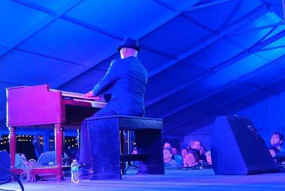 Booker T. Jones on the Hammond B3 organ in the Blues Tent. - E.J. FRIEDMAN