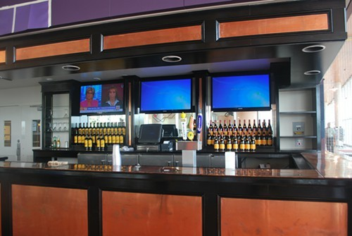 The bar inside the current Riverfront Bar & Grill.