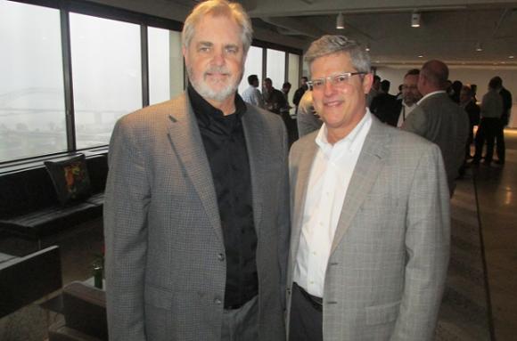 Rick Gardner and Dike Bacon at HBG Design - MICHAEL DONAHUE