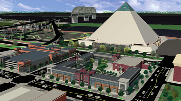 An image from the Pinch District Concept Plan - CITY OF MEMPHIS