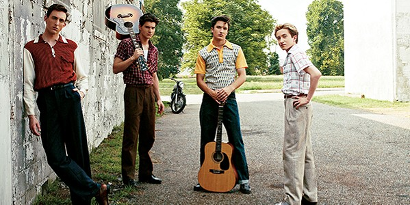 (From left to right) Dustin Ingram as Carl Perkins, - Kevin Fonteyne as Johnny Cash, Drake Milligan as Elvis Presley, and Christian Lees as Jerry Lee Lewis - PHOTOGRAPHS COURTESY OF CMT