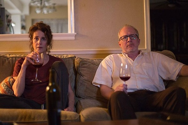 Deborah Winger and Tracy Letts demonstrate an activity more enjoyable than watching The Lovers.