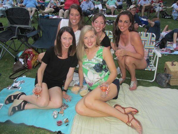 Colleen Radish, Beth Wilson, Liza Rauth, Locke Isaacson and Kristin Smith at Summer Symphony at the Live Garden at Memphis Botanic Garden. - MICHAEL DONAHUE