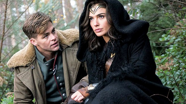 Chris Pine (left) tries to keep up with Gal Gadot in Wonder Woman, the first feature film about the Amazing Amazon.
