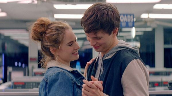 Lily James and Ansel Elgort get cozy.
