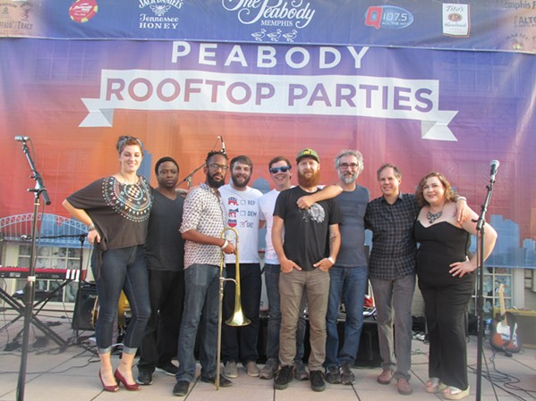 Snowglobe performed at Peabody rooftop. - MICHAEL DONAHUE
