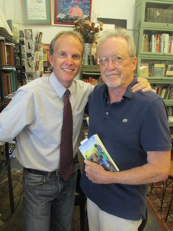 "Memphis magazine managing editor Frank Murtaugh and Memphis Flyer editor Bruce VanWyngarden at Murtaugh's book signing for his novel, ""Trey's Company."" - MICHAEL DONAHUE"