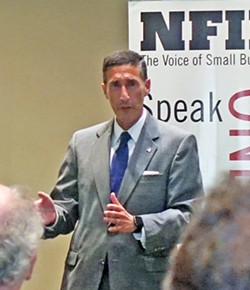 Kutoff answering questions at NFIB meeting - JB