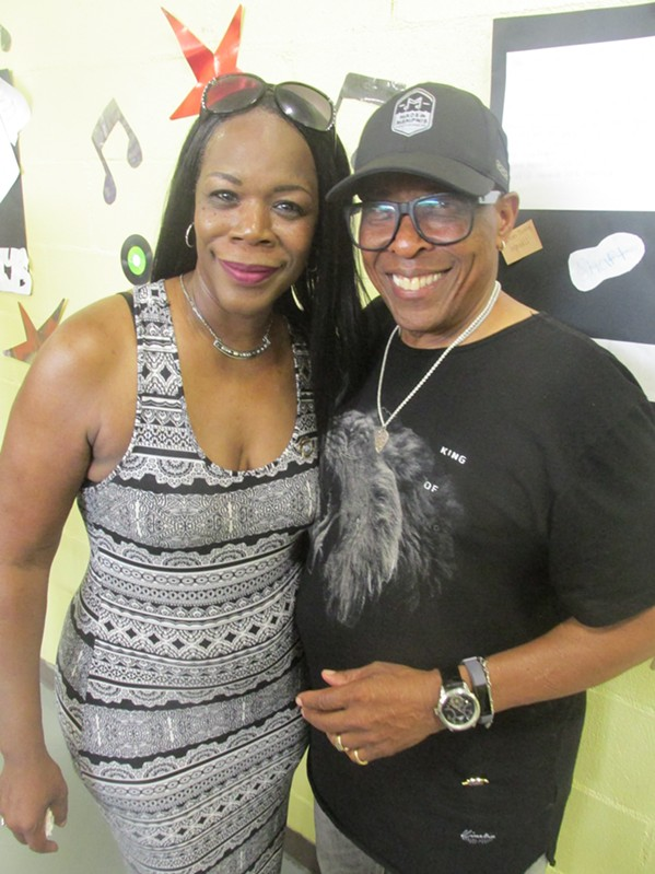 Veronica Hayes and David Porter at Isaac Hayes Day in the Park. - MICHAEL DONAHUE