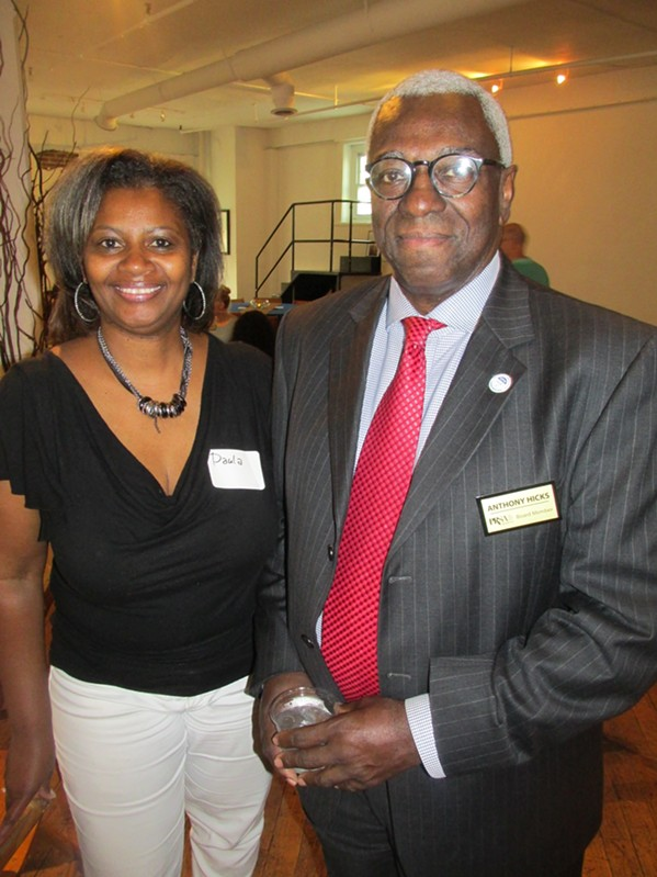 Paula Anderson and Anthony Hicks at PRSA Memphis networking event at Jack Robinson Gallery. - MICHAEL DONAHUE