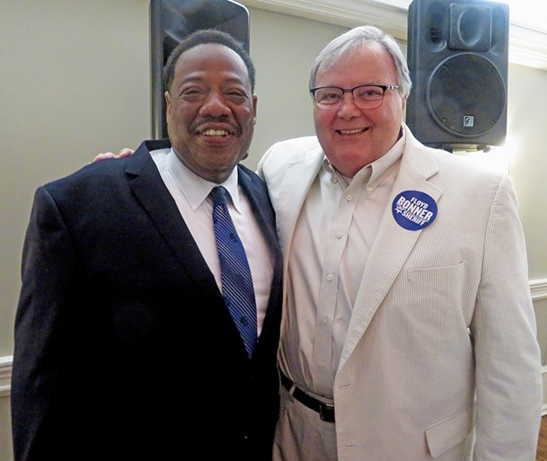 Bonner with incumbent Sheriff Bill Oldham, who endorsed him. - JB