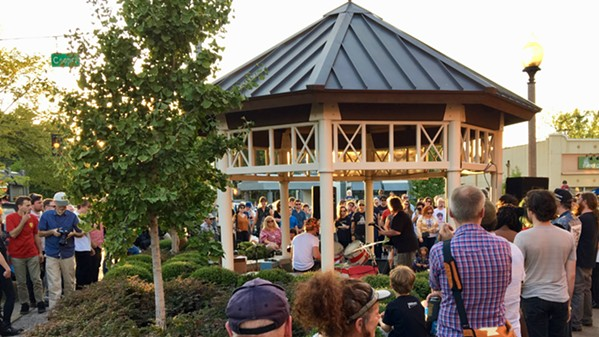 King Louis and Abe White rock the crowd at the Cooper Young gazebo for Gonerfest 14's opening ceremonies.