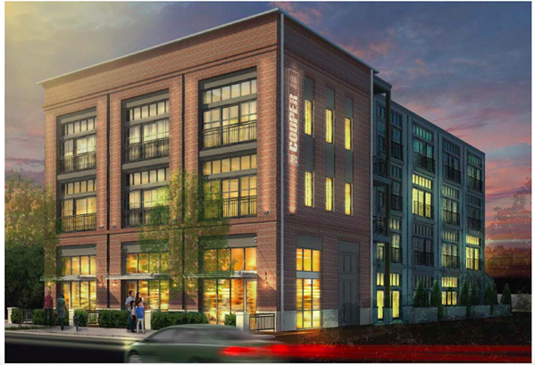 The 25-unit apartment building  proposed to be built close to the corner of Cooper and Walker. - CENTER CITY FINANCE REVENUE CORP.