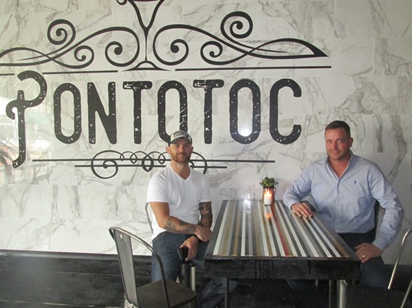 Daniel Masters and Jeremy Thacker-Rhodes, two owners of the new Pontotoc restaurant/jazz bar. - MICHAEL DONAHUE
