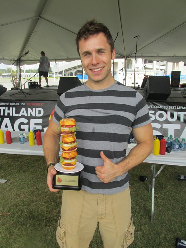 Brett Healey at Best Memphis Burger Fest. - MICHAEL DONAHUE