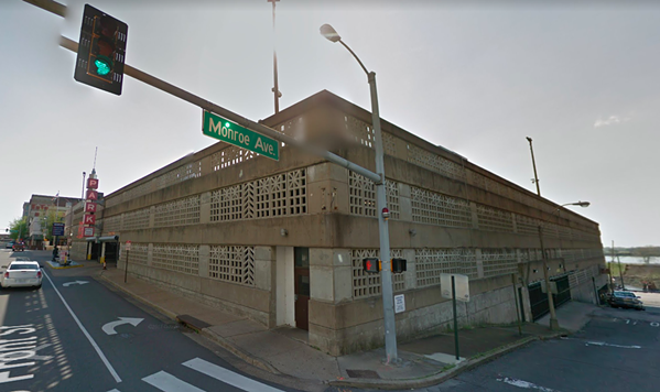 The site of a parking garage at Front and Monroe is being considered as a possible new location for the Brooks Museum of Art. - GOOGLE MAPS