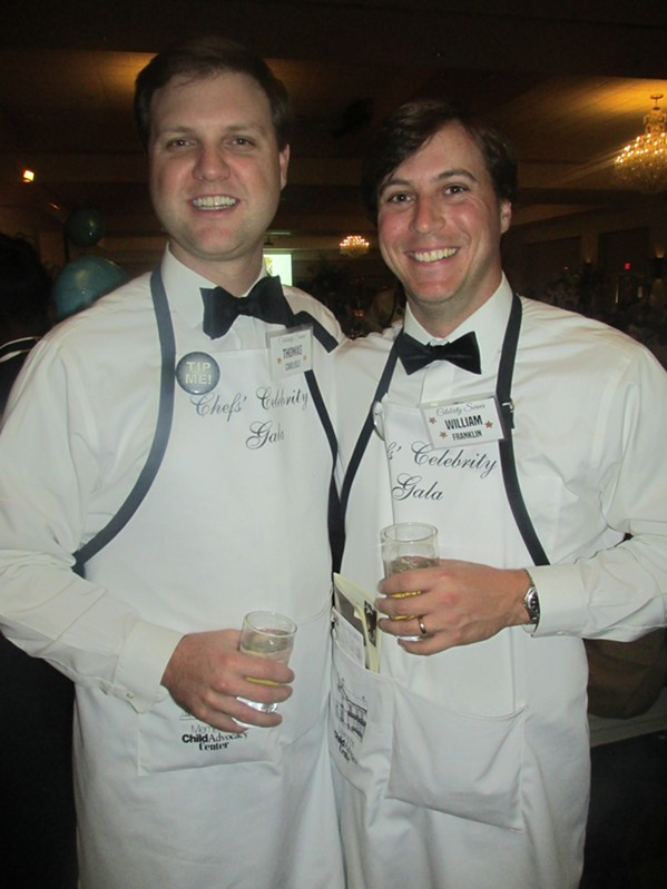 Thomas Carlisle and William Franklin were at the Chefs' Celebrity Gala. - MICHAEL DONAHUE