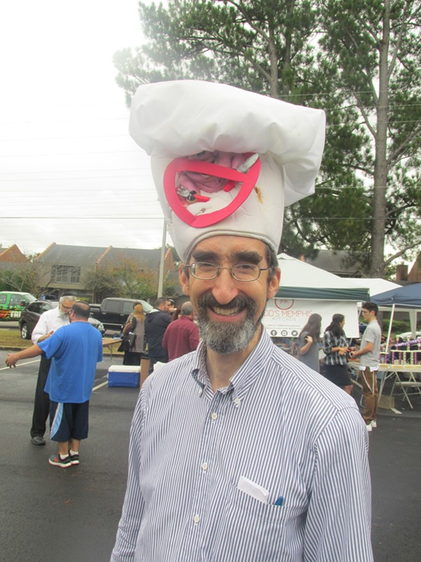 Rabbi Joel Finkelstein was at the ASBEE World Kosher BBQ Competition and Festival. - MICHAEL DONAHUE