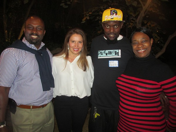 De'Andre Brown, Lucia Heros, and LaSalle and Phyllis Pratt were at the Playback Memphis party. - MICHAEL DONAHUE