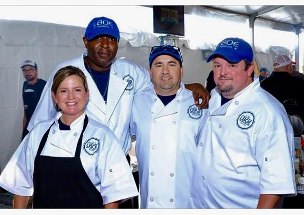 LBOE team: Simmons, McGhee, Adams, and Shive