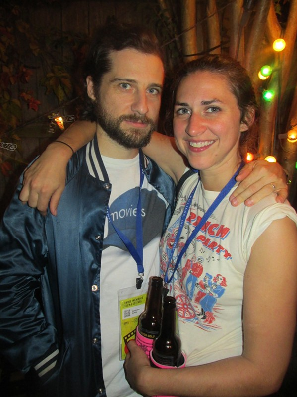 Kentucker Audley and Caroline White at the Official Unofficial Indie Memphis Filmmakers Party. - MICHAEL DONAHUE