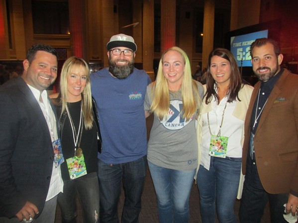 Michael and Katie Hudman, Jason and Caitlin Motte and Karie and Andrew Ticer at The Jason Motte Foundation Cornhole Challenge. - MICHAEL DONAHUE