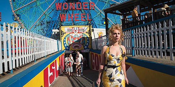 Juno Temple (above) plays Carolina in Woody Allen's new film, Wonder Wheel.