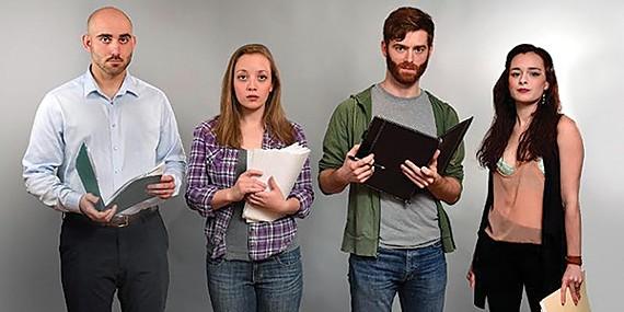 Class Act: The cast of Seminar, at Circuit Playhouse