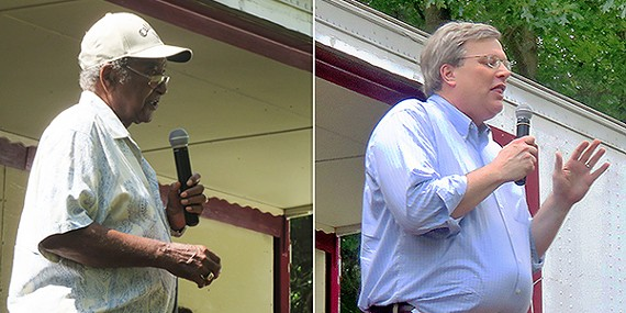Chism and Strickland at Sunday Political Picnic