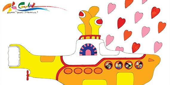 A scene from Yellow Submarine (1968), the British animated film based on music by the Beatles and illustrated in part by Ron Campbell.
