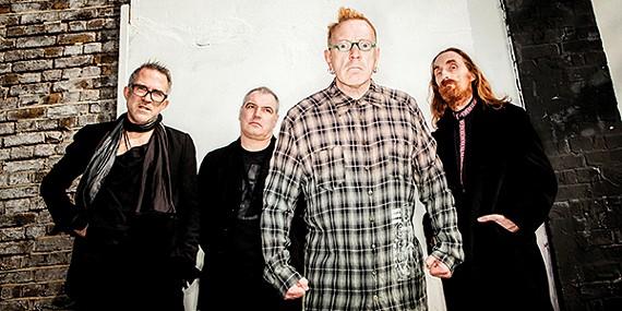 (left to right) Bruce Smith, Scott Firth, John Lydon, and Lu Edmonds