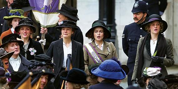 Carey Mulligan and Helena Bonham Carter in Suffragette