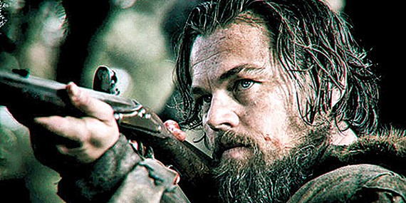 DiCaprio hunts his Oscar in The Revenant.
