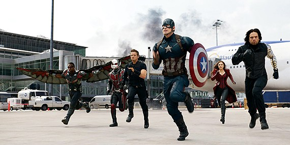 "Civil War — superpatriot Captain America vs.""genius, billionaire, playboy, philanthropist"" Iron Man"