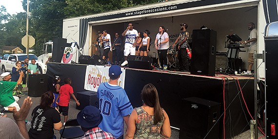 Royal Records Flagship Artists Lil Riah and Key Money perform live at the Royal Records Block Party.
