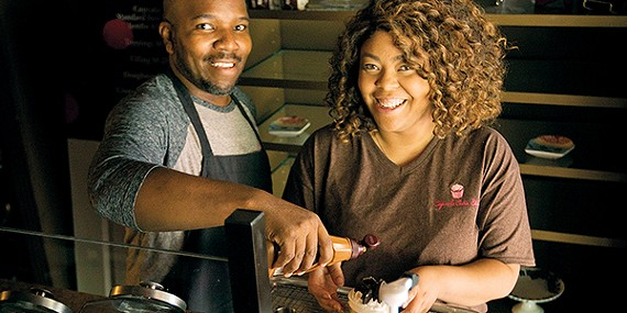 Robert and Emeka Clayton keep it sweet with the new Cupcake Cutie.