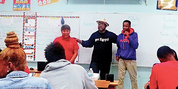 "State Representative Antonio Parkinson (D-District 98) is known for his legislative focus on public-school education and Shelby County Schools, in particular. Last week, he went hands-on at Raleigh-Egypt High School, doing a ""take-over"" of Robert Coleman's government class (with the instructor's permission) and taking the students through some mock parliamentary procedures, proposing pieces of legislation, then debating and voting on them."